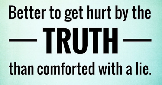 Image of Rather hurt by the Truth rather than comforted by a Lie.